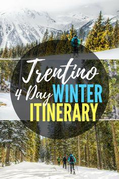 Winter in Trentino, Dolomites, Italy