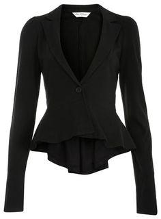 Peplum blazer. Pretty perfect.