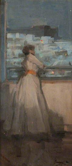 Contemplation (Moonlight in Tunis) , 1892 - Sir John Lavery (Irish, 1856-1941) Impressionism