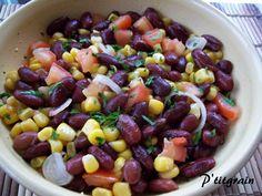 salade de haricots rouges et maïs
