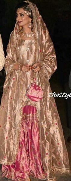 Pakistani Wedding Outfits, Pakistani Bridal Wear, Pakistani Dress Design, Pakistani Dresses, Indian Dresses, Pakistan Bridal, Nikkah Dress, Desi Clothes, Khada Dupatta