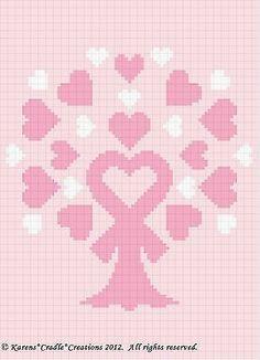 BREAST CANCER AWARENESS - PINK RIBBON TREE Graph Chart