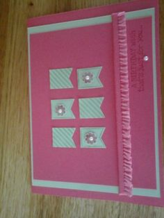 Happy Birthday Card, using Stampin' Up Products. Happy Birthday Cards, Stampin Up, Card Making, Products, Beauty Products, Anniversary Cards, Cardmaking, Letter Crafts