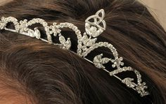 Irish Claddagh/Trinity Knot First Communion Tiara. Do they really wear tiaras?