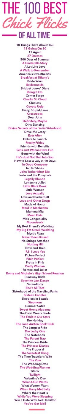100 Best Chick Flicks Of All Time The 100 Best Chick Flicks Of All Time - Perfect for a date night movie, or a girls night in!The 100 Best Chick Flicks Of All Time - Perfect for a date night movie, or a girls night in! Series Quotes, Movie Quotes, Funny Quotes, Quotes Quotes, Night Quotes, Book Quotes, Movie List, I Movie, Movie Times