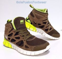 6d283a6282bac Nike Run V2 Mid Mens Brown Mesh SNEAKERS Shoes Size UK 7.5 for sale online  | eBay