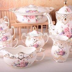 . Sugar Bowl, Bowl Set, Tea Time, Pink White, Tea Pots, Tableware, Mesas, Dinnerware, Tablewares