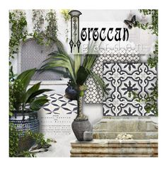 """Moroccan Garden"" by kearalachelle ❤ liked on Polyvore featuring interior, interiors, interior design, home, home decor, interior decorating and SomerTile"