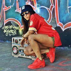 Paigey Cakey Pretty Girl Swag Dope Fashion Urban Streetwear Style Trend OOTD Nike Air Max Hyperfuse Sneakers Footwear