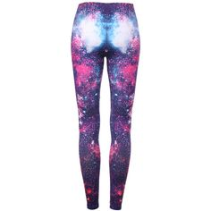 """Burning Fire"" Galaxy Leggings ($26) ❤ liked on Polyvore"