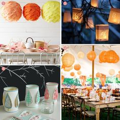 paper lanterns for weddings | Finishing Touches: Paper Lanterns - Exquisite Weddings