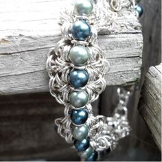 Katheryne Pearl and Sterling Silver Chainmail by mysilvertoes - pretty!