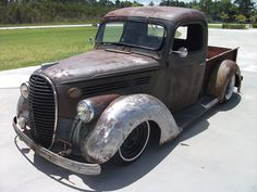 1938 Ford. Love the bare metal. Who needs paint?