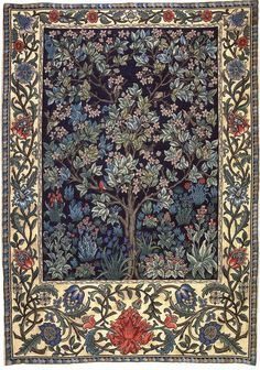 ub-sessed:  William Morris Tree of Life tapestry