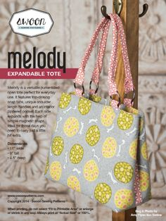Swoon Melody Expandable Tote | Sewing Pattern | YouCanMakeThis.com