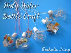 Make a Holy Water Bottle Necklace. This is a really fun and easy craft to do with Catholic kids! Perfect for Baptism, or anytime!