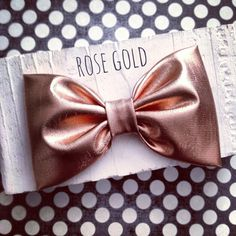 Rose gold copper fabric hair bow rockabilly pinup by SplendidBee, $5.00