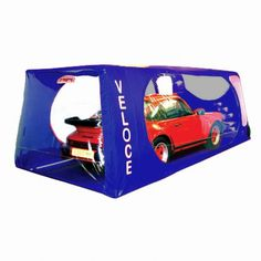 Indoor Veloce Carcoon Car Bubble Blue (485 x 200cm)