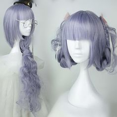 Lolita Purple Curly Long Wig CP166225