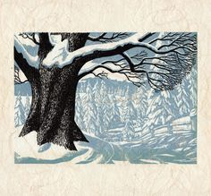 """Winter in Connecticut"" letterpress 