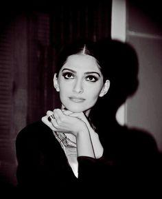 Sonam kapoor black and white