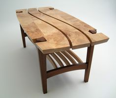 Custom Made Burl Maple Coffee Table - wood slabs available at http://www.BerkshireProducts.com