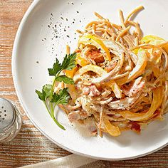 Healthy Spaghetti alla Carbonara From Better Homes and Gardens, ideas and improvement projects for your home and garden plus recipes and entertaining ideas.