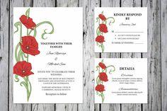 Floral Wedding Invitation Template  @creativework247