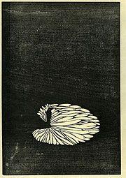 I know where the shadows fall, 1914, woodblock print,  Shizuo Fujimori