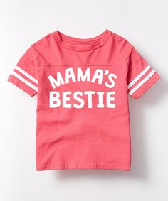 Another great find on #zulily! Hot Pink 'Mama's Bestie' Football Tee - Toddler & Girls by LC Trendz #zulilyfinds