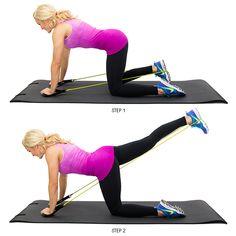 Kneeling-Glute-Kickback-Resistance-Band-Lower-Body-Exercise