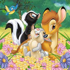 "Photo from album ""Бемби"" on Yandex. Walt Disney, Disney Love, Disney Art, Disney Pixar, Bambi Art, Bambi And Thumper, Images Disney, Disney Pictures, Images Kawaii"