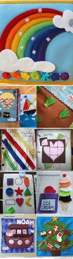 Libro para tener a los niños tranquilos, silenciosos y ocupados, patrones e ideas - Quiet and busy book, patterns & Ideas