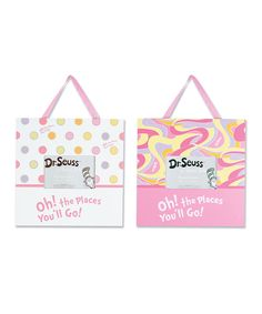 Pink 'Oh The Places' Picture Frame Set   Daily deals for moms, babies and kids