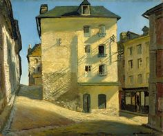 James Proudfoot (1908-1971) > Sun on a House, Dieppe, 1937 | Oil on canvas, 64.1 x 76.8 cm