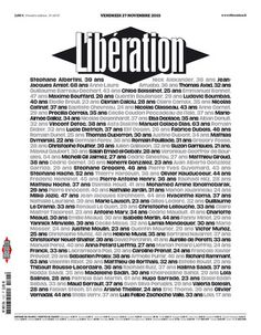 Libé du 27 novembre 2015 Laura Lee, Magazine L, Magazine Covers, Le Bataclan, Eagles Of Death Metal, Drame, Paris, Newspaper, Syria