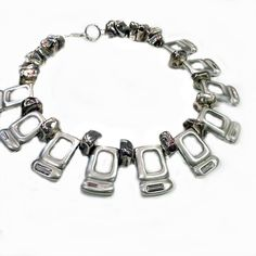 Silvered Nuggets, Silver-Dipper Open Cubes with Inset Crystal. Art Decor, Jewelry Design, Dipper, Crystals, Cubes, Bracelets, Crystal, Bracelet, Crystals Minerals