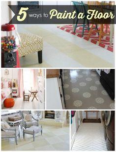5 Ways to Paint a Floor