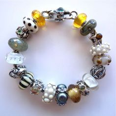 "The ""Sunny with Cloudy Periods"" Trollbeads bracelet by Tartooful..."