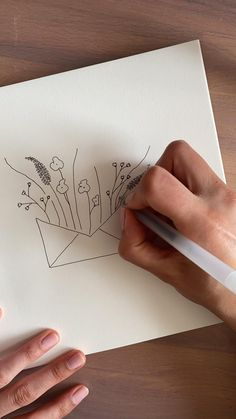 Illustrationen am Morgen sind wunderbar! Man startet direkt kreativ in den Tag : ) Flower Art Drawing, Flower Drawing Tutorials, Mandala Drawing, Art Drawings Sketches Simple, Pencil Art Drawings, Easy Drawings, Zentangle Drawings, Doodle Drawings, Cute Doodle Art