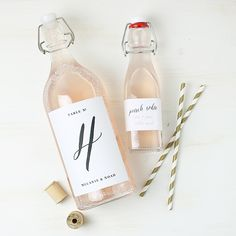 Swell and Grand Printable Bottle Labels   Customize, download, and print instantly!