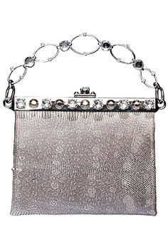 Vintage Accessories Vintage Charitable Antique Art Nouveau Floral Deco Silver T Slide Handle Cathedral Top Mesh Purse