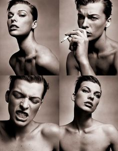 Milla Jovovich by Vincent Peters.