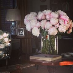 Peonies have a way of attracting a fashion-and-decor-loving crowd.