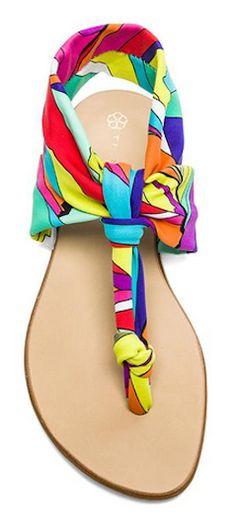 Love the vibrant print on this sandal http://rstyle.me/n/v76b6nyg6