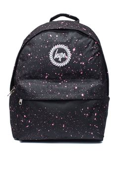 **Black and Pink Speckle Backpack by Hype - Bags & Accessories- Topshop Europe