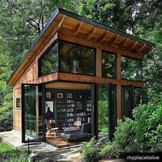 33 Gorgeous Tiny House Interior Design And Decor Ideas - New ideas Tiny House Cabin, Tiny House Living, Tiny House Plans, Tiny House Design, Living Room, Tiny House Kits, Wood House Design, Container House Design, Cozy House