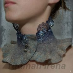 Felted scarfcollar Modest desires   by RudmanArt on Etsy