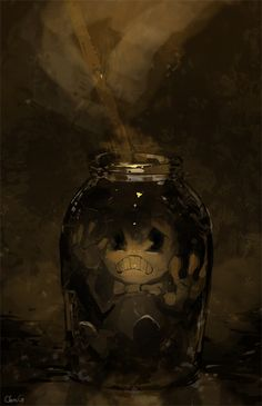 Ink Bottle by cloneG on DeviantART. << bendy and the ink machine??