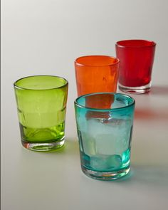 """Shop """"Kaleidoscope"""" Double Old-Fashioneds at Horchow, where you'll find new lower shipping on hundreds of home furnishings and gifts. Dinnerware, Barware, Tableware, Glasses, Neiman Marcus, China, Colorful, Crystal, Kitchen"""
